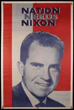 Poster Photo Richard M Nixon Republican Candidate for President United States
