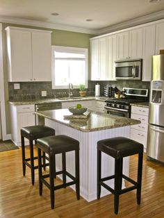 Victorian Home Gets Modern Kitchen - Similar set up to the kitchen in my soon-to-be new-to-me house.