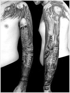 Cool Bio-mechanical Tattoo designs: Skull Biomechanical Tattoo Design For Men On Arm ~ Tattoo Design Inspiration
