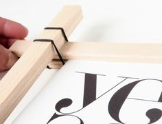 DIY Paint Stick Frame - DIY Craft Kits, Monthly Craft Projects, Supplies, Subscription Box | Whimseybox
