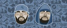 Wu Tang Clan - Raekwon & Methodman #wutang #wutang #wutangclan #methodman #redman #hiphop #newyork #dodgers #90s #1990 #illustrator #illustration #portrait #portraits #lowvector #lowpolygon #vector #vectorial #art #wip #somebuddies #graphicagency #graphic #graphicdesign #design #lyon