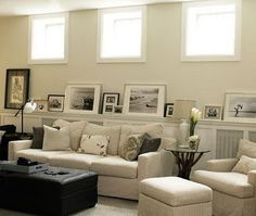basement inspiration- wall color and molding