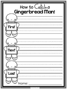 How to Catch a Gingerbread Man FREEBIE!