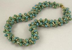 Elegant Right Angle Weave Necklace Tutorial -- A Free Beading Project Featuring…