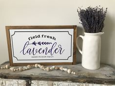 Excited to share this item from my shop: Field Fresh Lavender // Lavender Sign // Lavender Decor // Spring Decor // Summer Decor // Home Decor // Flower decor Custom Wood Signs, Rustic Signs, Lavender Decor, Lavender Quotes, Wood Kitchen Signs, Coffee Bar Signs, Decorative Soaps, Romantic Room, Silhouette Cameo Projects