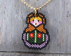 Babushka de style rustique - collier