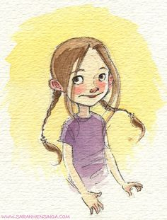 Explore collection of Watercolor Character Design Art And Illustration, Watercolor Illustration Children, Watercolor Girl, Watercolor Sketch, Character Illustration, Sketch Art, Male Character, Fantasy Character, Character Sketches