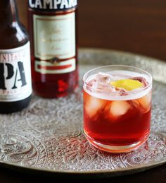 Campari and IPA. shots campari, half an IPA Easy Cocktails, Summer Cocktails, Cocktail Drinks, Alcoholic Drinks, Cocktail Ideas, Whiskey Cocktails, Drinks Alcohol, Alcohol Recipes, Drink Recipes