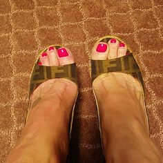 Fendi Sling Backs FENDI BROWN ON BROWN ZUCCA PRINT SLING BACK WEDGES SIZE 38 WORN A FEW TIMES  VERY GOOD CONDITION  GREAT FOR SPRING AND SUMMER  I WEAR A 7 - 7 1/2 FENDI Shoes Wedges