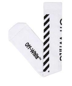 OFF-WHITE Diagonals cotton socks. #off-white #cloth #