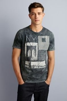 Buy Grey Acid NY Bridge T-Shirt from the Next UK online shop: