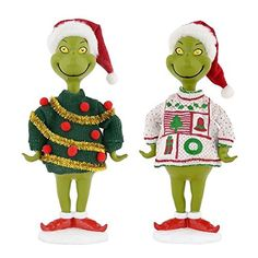 Department 56 Grinch Ugly Sweater Figurine Set -- Check out this great product. (This is an affiliate link)