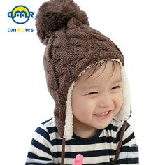2938bc1fb6b DMROLES 2018 Baby Winter Hat Boy Cap Girl Cotton Hat Baby Warm Cap Boy  Thick Hat