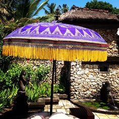 balinese sun umbrella | I must have one of these in my backyard!