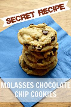 Secret Recipe -- Molasses Chocolate Chip Cookies! @EC2blog