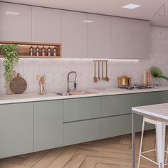 The most popular colors of 2020 in the interior. The most popular colors of 2020 in the interior. The most popular colors of 2020 in the interior This Kitchen Room Design, Studio Kitchen, Modern Kitchen Design, Home Decor Kitchen, Interior Design Kitchen, Kitchen Furniture, Home Kitchens, Küchen Design, House Design