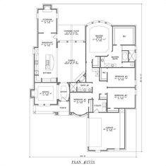 This plan could have a long dining room. :)open floor plans for small homes | Single Story Floor Plans With Open Floor Plan