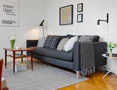 black couch retro, wall gallery #interior #gallery