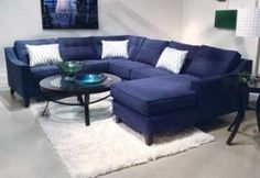 Navy Blue Is Important In Apparel This Season, And This Sectional  Represents A Great Marriage Of ...