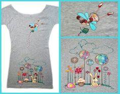 Pintar disenso sobre camisetas técnicas nuevos estilos