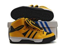 newest 42e47 74fbe Jeremy Scott Adidas 3 Tongue (Black Gold) Jeremy Scott Adidas, Adidas Men