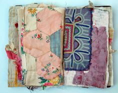Thread and Thrift: fabric book by Mandy Patullo Altered Books, Altered Art, Fabric Journals, Art Journals, Stitch Book, Creation Couture, Fabric Art, Fabric Books, Handmade Books