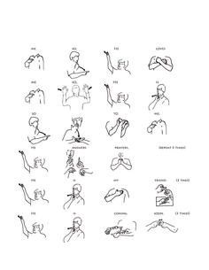 Meeting 14: Use this sheet to teach Builders sign language