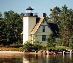 Bete Grise (Mendota) Light - Located on Mendota Point near the southern tip of the Keewenaw Peninsula