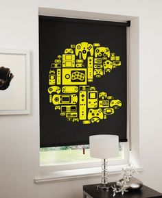 Level-Up your window coverings with video game-themed blinds