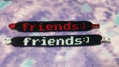 A friends smiley string friendship bracelet us sure to bring a smile ti a friend's face. Handmade and for sale at Liv4Friendship! Click the link to order!