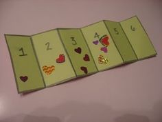 sticker numbers - also helps with fine motor skills