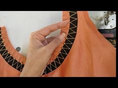 Very stylish neck design with beads / latest boat neck design - YouTube