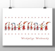"Wichtelkarte ""Wichtelige Weihnacht"" Postkarte Weihnachtsgrüße Weihnachtskarte Wintergruß Neujahrskarte Nostalgiekarte Nordic Style Zwerge Illustration, Arabic Calligraphy, Poster, Etsy, Graphic Prints, Xmas Cards, Postcards, Craft Gifts, Illustrations"