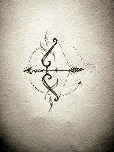 Bow arrow tattoo