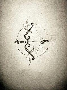 Bow arrow tattoo