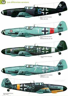 Messerschmitt Me-109G ,variants