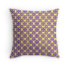 Azulejo Geometrical Colors Throw Pillows #Home #Decor #Shopping #RedBubble