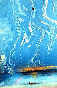 Hikmet Barutçugil Paper Marbling, Ebru Art, Turkish Art, Marble Art, Colorful Pictures, Cover Art, Amazing Art, Flow, Minimalist