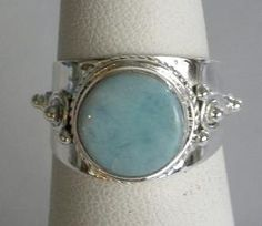 larimar & 925 sterling silver ring $29 WIDTH