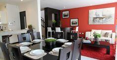 Sala, Comedor, decoración del hogar, diseño de interiores #contemporaneo