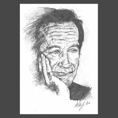 robin williams art | Robin Williams in pencil drawing