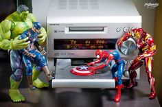 Amusing Action Figure Photography Imagines the Amusing Adventures of Superheroes and Villans