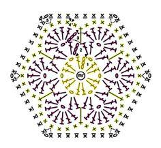 Crochet animals 477100154276229800 - Source by myriamgourmi Crochet Squares, Granny Square Crochet Pattern, Crochet Flower Patterns, Crochet Diagram, Crochet Chart, Crochet Motif, Crochet Doilies, Crochet Flowers, Crochet Stitches