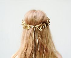 Unisex Gold Leaf Crown Gold Leaf Headband by BloomDesignStudio