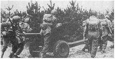 Pools geschut verplaatst zich van de LZ richting Arnhem