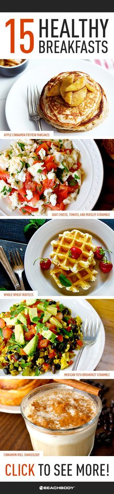 Eating a healthy breakfast doesn't have to mean plain oatmeal or tasteless egg-whites. Keep your taste buds happy with one of these tasty recipes! // recipes // healthy // breakfast // Beachbody // BeachbodyBlog.com