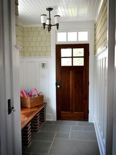 Breakfast Room Wall Treatment - Using Exterior Siding On Interior Walls - Addicted 2 Decorating®