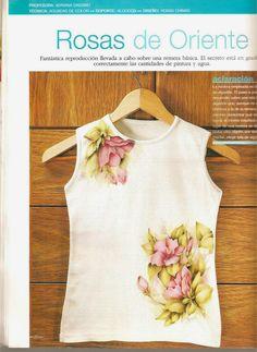 Revistas de manualidades Gratis: Como pintar sobre tela paso a paso