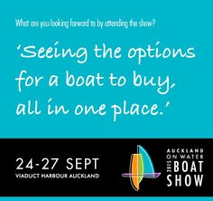 Seeing The Options at the Auckland On Water Boat Show