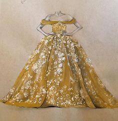 Beautiful Dress Drawings by Dubai Fashion Designer, 3Alya